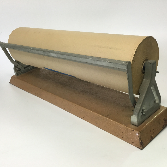 PAP0020 PAPER DISPENSER, Metal Base w Brown Paper $25