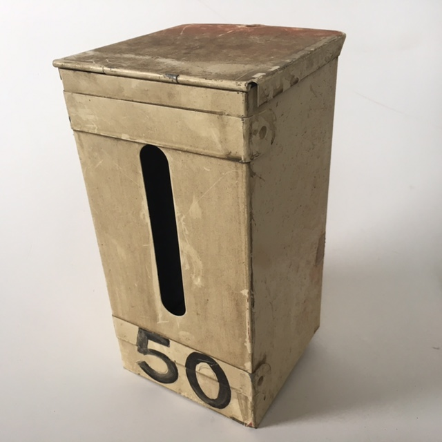 POS0062 POST BOX, Cream Vertical No. 50 $18.75