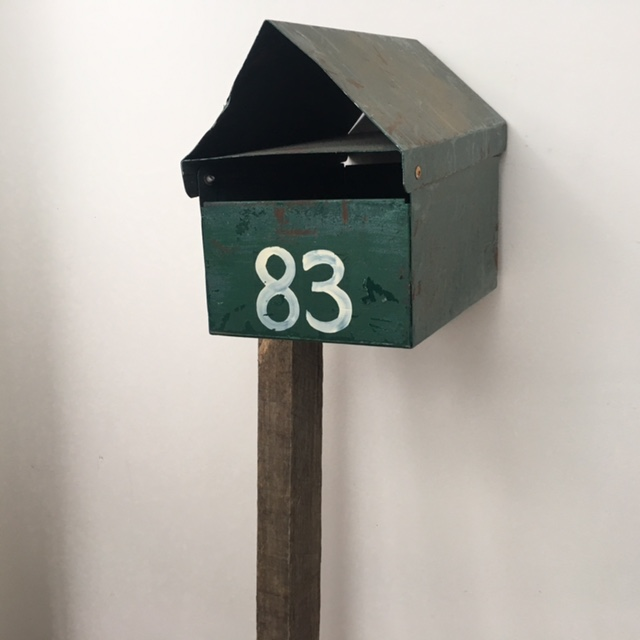 POS0064 POST BOX, Green Triangular Top No. 83 $22.50