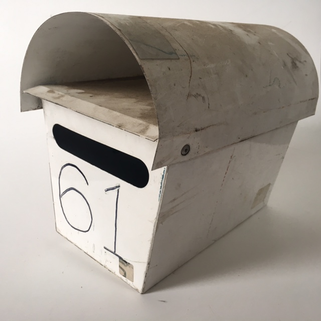 POS0067 POST BOX, Off White Aged Round Top No. 61 $18.75