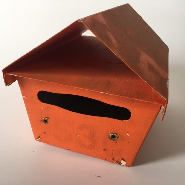 POS0068 POST BOX, Orange Triangular Top No. 53 $18.75