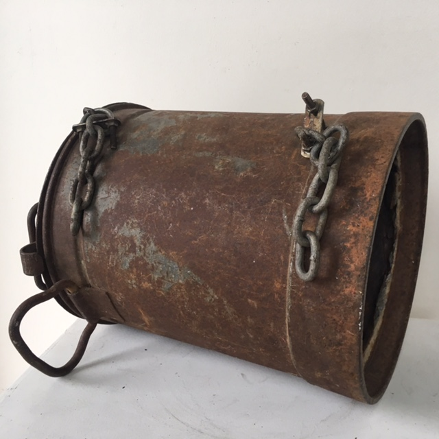 POS0074 POST BOX, Rusted Milk Churn $22.50