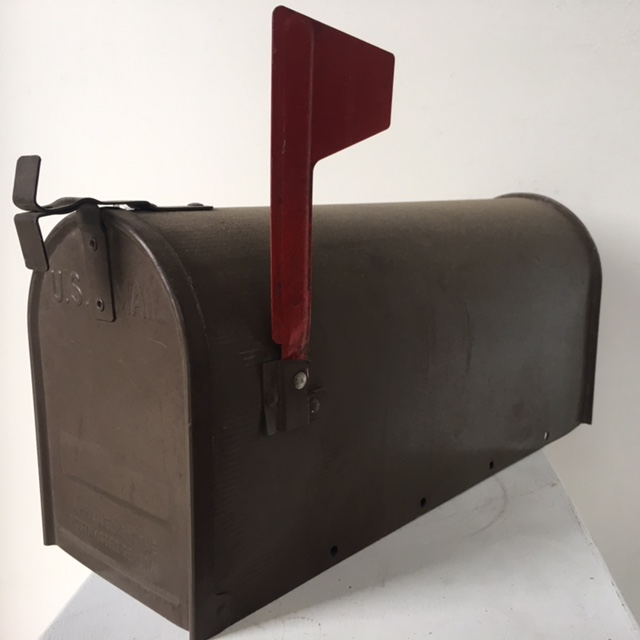 POS0075 POST BOX, USA 48cm Brown $25