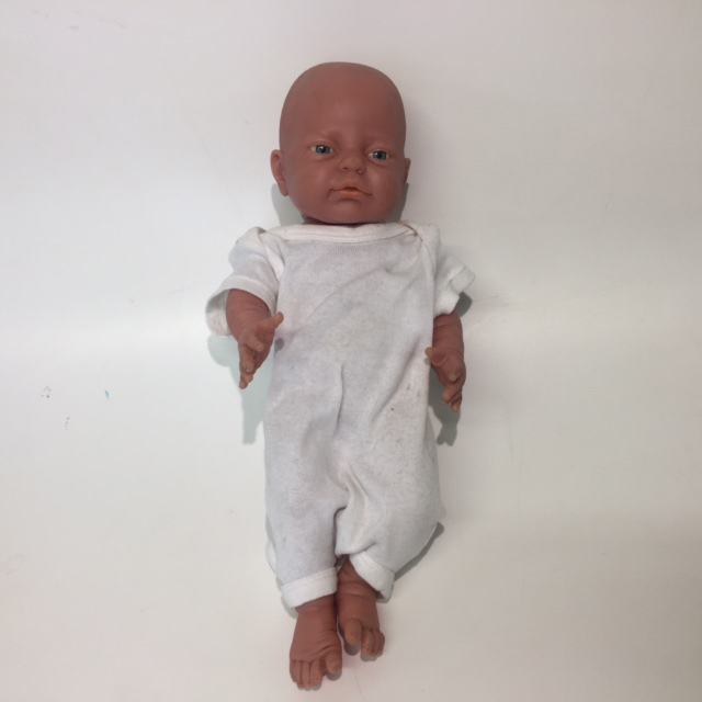 DOL0007 DOLL, Baby - Realistic Girl in White Onesie 42cm L $12.50
