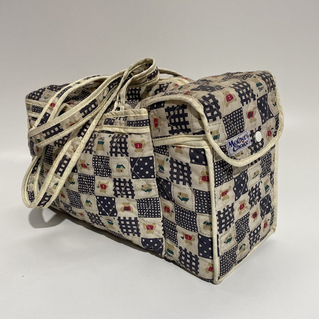 NUR0005 NURSING BAG, Navy Patchwork Nappy Bag $5