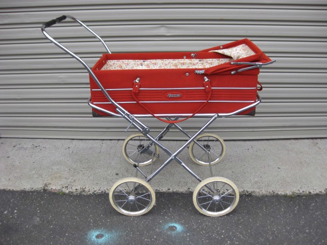 PRA0003 PRAM, Vintage Burnt Orange 1970s $50
