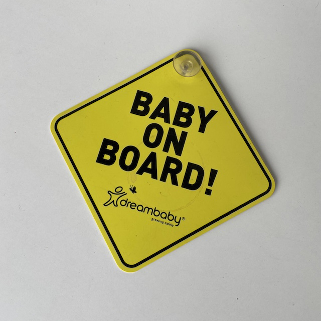 SIG0154 SIGN, Baby on Board $3.75