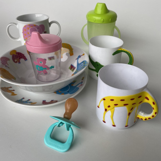 TAB0200 TABLEWARE, Baby or Kiddy Bowl, Plate, Cup $2.50