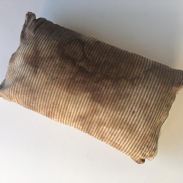 PIL0011 PILLOW, Ticking Aged Stained $18.75