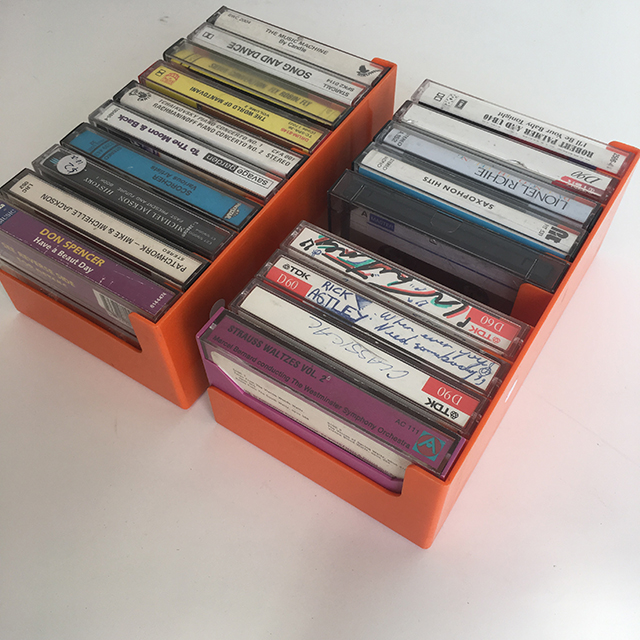CAS0202 CASSETTE, HOLDER - w Tapes Retro Orange $8.75