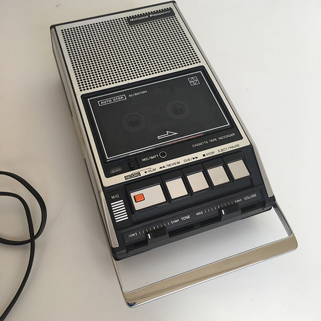 CAS0212 CASSETTE, RECORDER - Silver National Panasonic $18.75