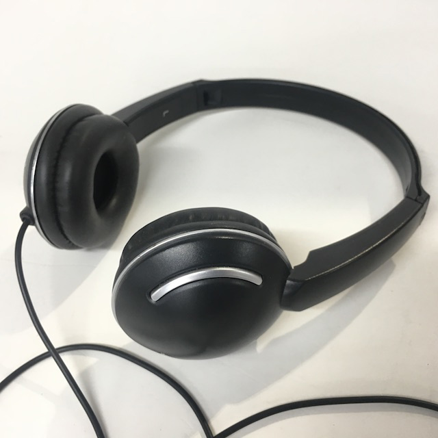 HEA0005 HEADPHONES, Black Contemp $12.50