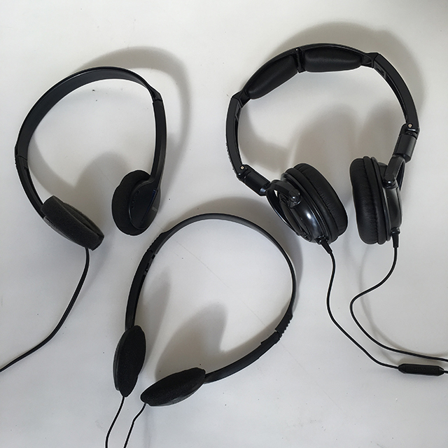 HEA0002 HEADPHONES, Basic Black $7.50