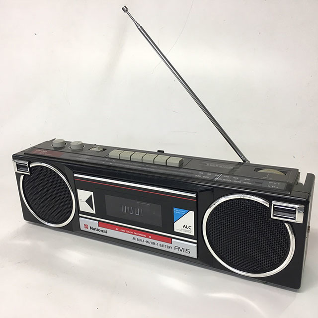 RAD0056 RADIO, Boombox - Black National Slim Line $18.75