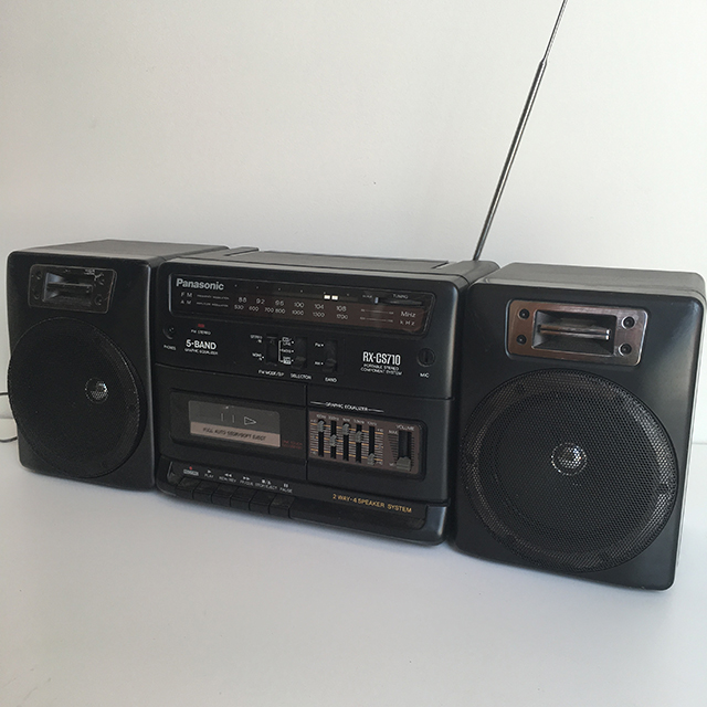 RAD0001 RADIO, Boombox - Black Panasonic $22.50