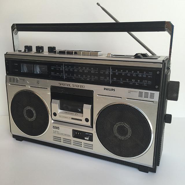 RAD0003 RADIO, Boombox - Black Silver Philips Spatial $22.50