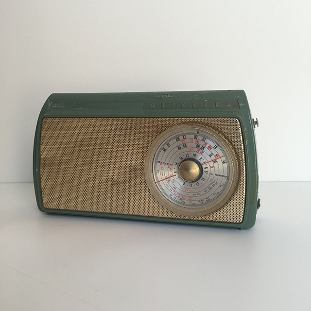 RAD0015 RADIO, 1950s Blue Green Kreisler $15