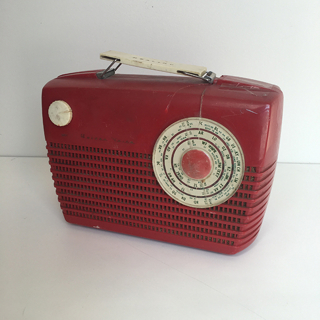 RAD0020 RADIO, 1950s Red $18.75