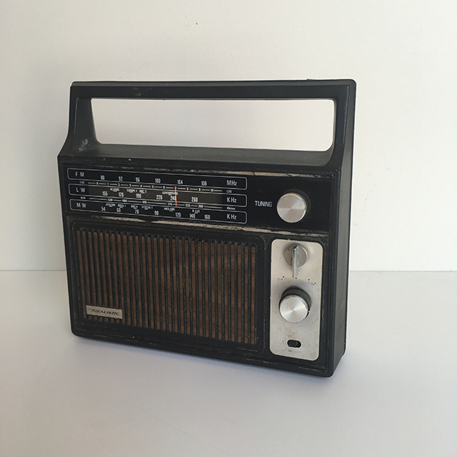 RAD0022 RADIO, Black Woodgrain Realistic $12.50