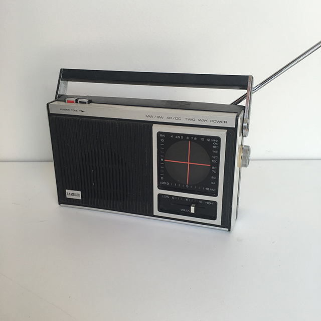 RAD0028 RADIO, Small Black Rambler $12.50