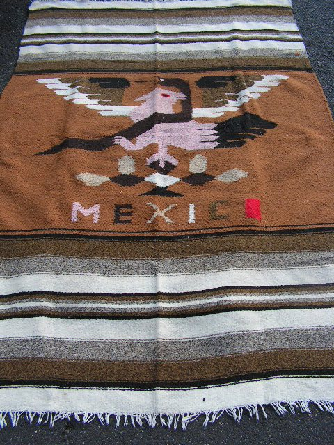 RUG0003 - Brown & Cream Mexico 1.8m x 1.2m $37.50
