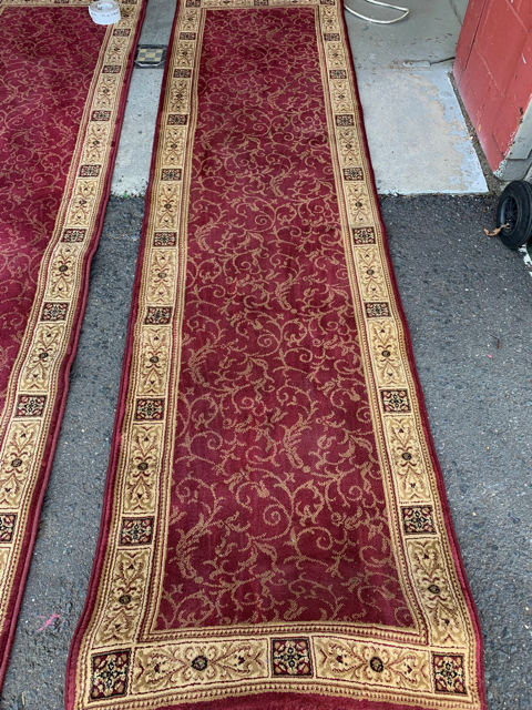 RUG0006 Red Traditional Runner 79cm x 2.9m and 79cm x 5.9m $62.50