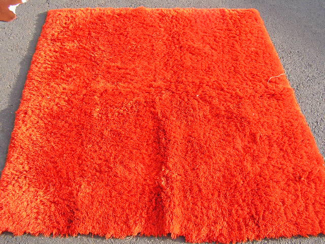 RUG0019 - Burnt Orange Shag 1.8m x 1.7m $50