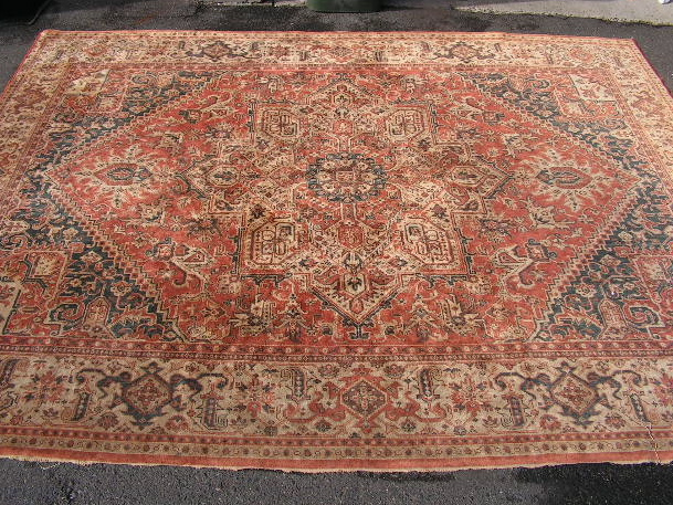 RUG0022 - Antique Oriental 3.4m x 2.6m $125