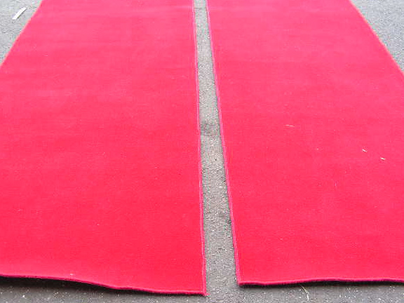 RUG0024 - RUNNER - Red Carpet 3.6m x 1m $90