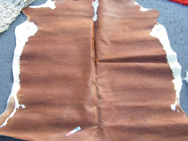 RUG0026 - Cowhide, Brown/White $75