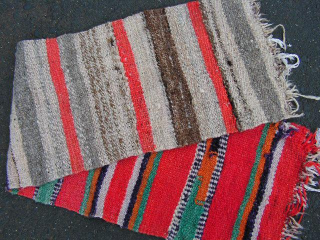 RUG0032 - Narrow Wool Rug - Orange Stripe 1.15m x 35cm $22.50