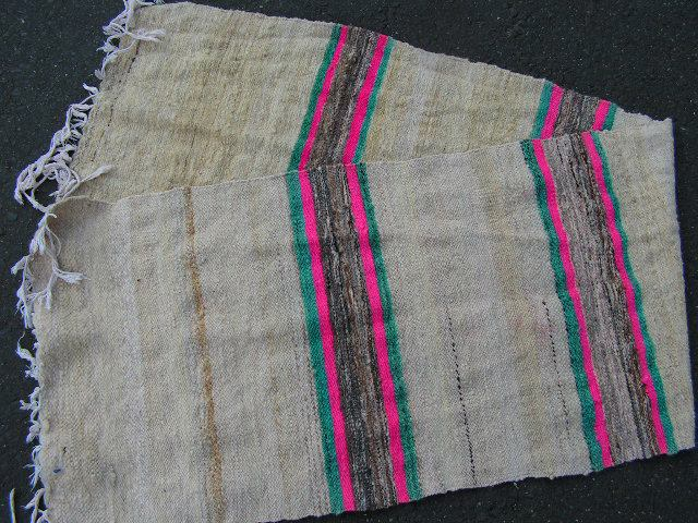 RUG0033 - Narrow Wool Rug - Pink Stripe 2.3m x 60cm $22.50