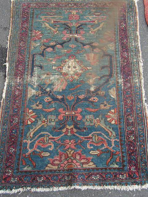 RUG0056 - Antique Blue Rust 1.3m x 90cm $37.50