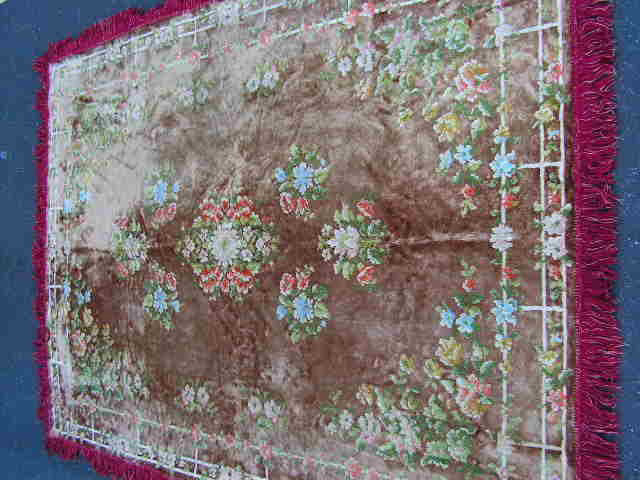 RUG0074 - Antique with Fringe 2.1m x 1.5m $30