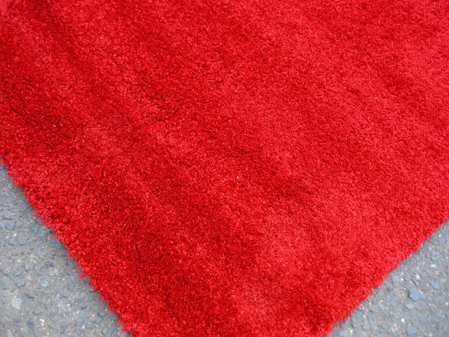 RUG0079 - Rust Red Thick Pile 1.5m x 80cm $20