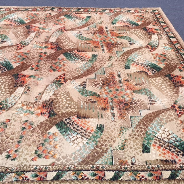 RUG0083 - Multicolour 1970s or 30s 3.6m x 3.1m $125