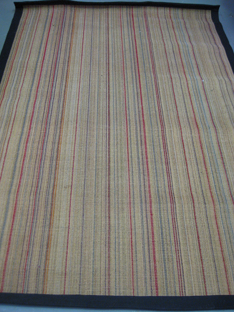 RUG0093 - Sisal w Multi Colour Stripes 2.2m x 1.5m $37.50