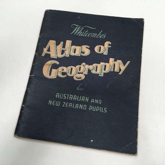 BOO0071 BOOK, Atlas - Whitcombes Atlas Of Geography $6.25