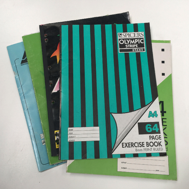 BOO0077 BOOK, Exercise Book - Large Assorted (Contemporary) $1