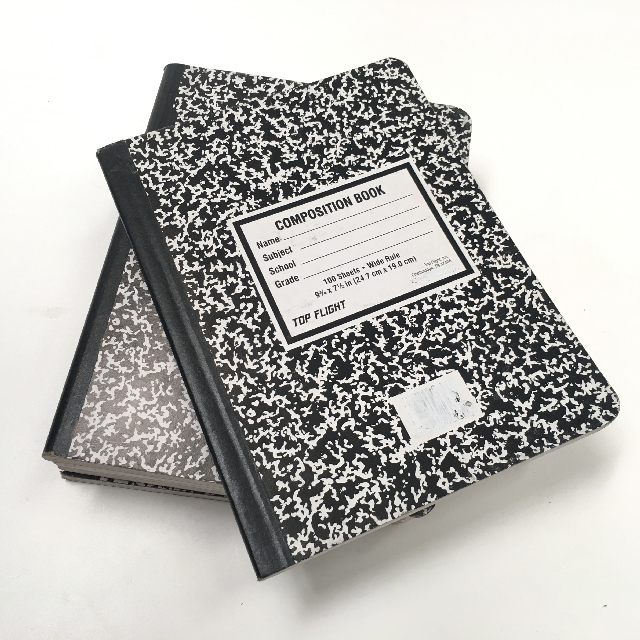 BOO0097 BOOK, Exercise Book - USA Black White Composition Book $3