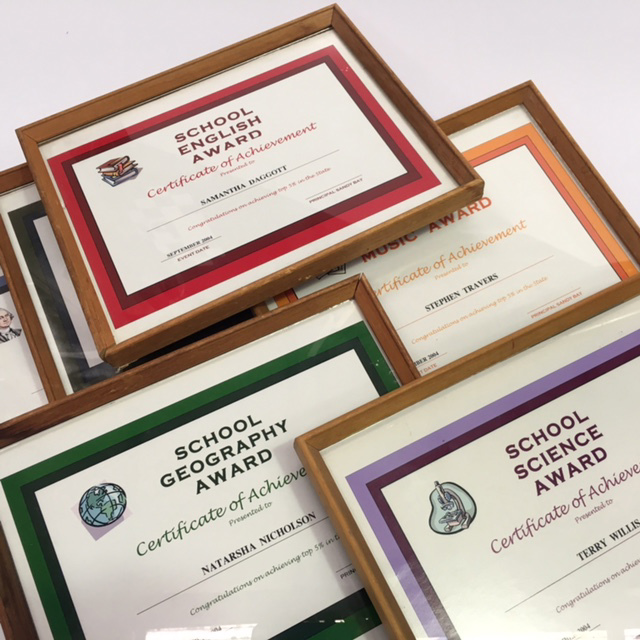 CER0029 CERTIFICATE, School Award - Assorted Certificate Of Achievement $7.50