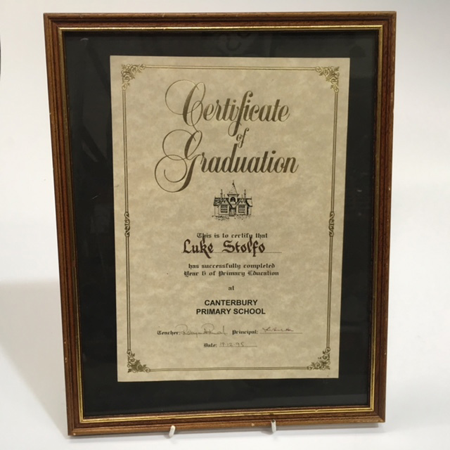 CER0028 CERTIFICATE, Of Graduation $7.50