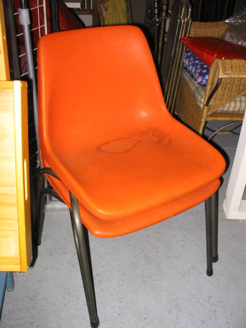 CHA0382 CHAIR, Plastic Stacking - Orange $11.25