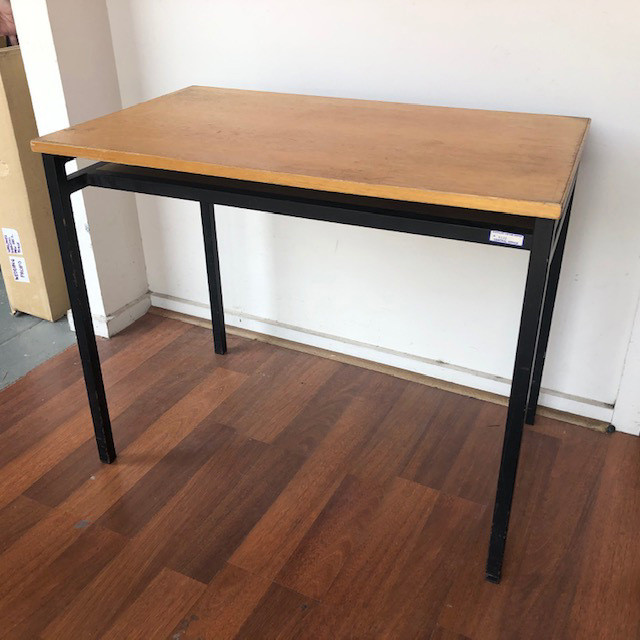 DES0018 DESK, Timber Student 1970s 51cm Deep x 86cm W x 70cm H $25