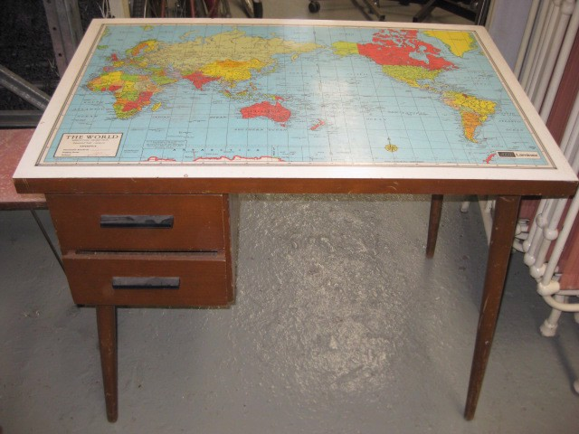 DES0011 DESK, with Map Top $50