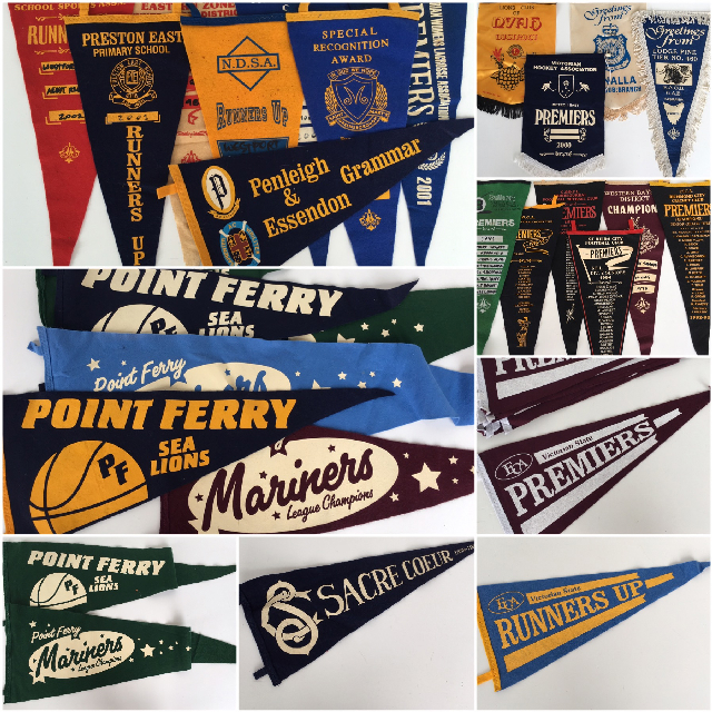 PEN0001 PENNANT, Felt or Fabric Assorted $3.75