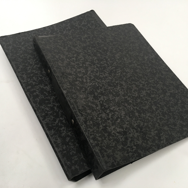 FOL0107 FOLDER, Period School - Black Grey Card $3.75