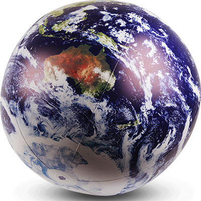 GLOBE, Inflatable - Earth From Space 30cm (GLO0023) $6.25 & 60cm (GLO0022) $8.75