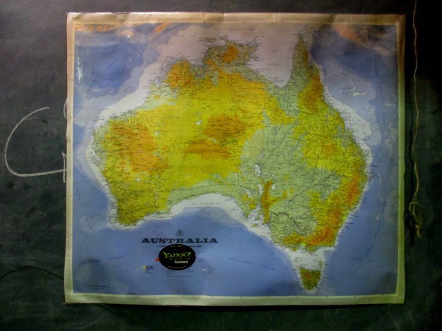 MAP0009 MAP, Australia - Laminated 1m x 80cm $7.50