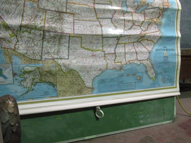 MAP0007 MAP ROLL, USA 1.8m x 1.5m (Crinkled) $30
